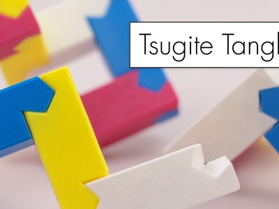 Tsugite Tangle. 3D Printed Puzzle