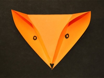 3D Paper Fox Head - Easy Origami for Kids