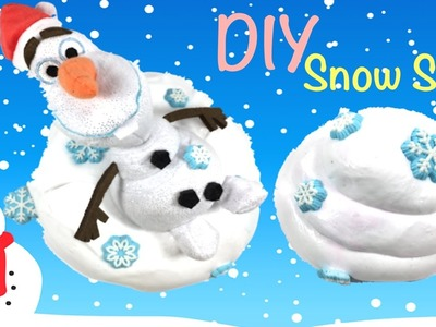 DIY Fluffy Snow slime!! How To Make Slime Without Borax,Liquid Starch,Baking Soda or Detergent