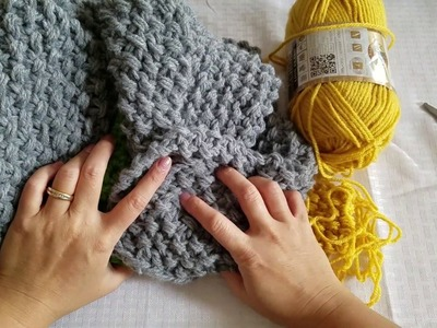 How To Knit A Seed Stitch Scarf Triple Yarn Method