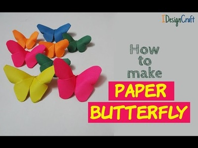 How to make a Origami Butterfly Bookmark | DIY Butterfly Crafts