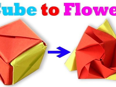 How To Make an Origami Magic Cube Rose (Valerie Vann) Stey by Step - Paper Magic Cube Rose Tutorial