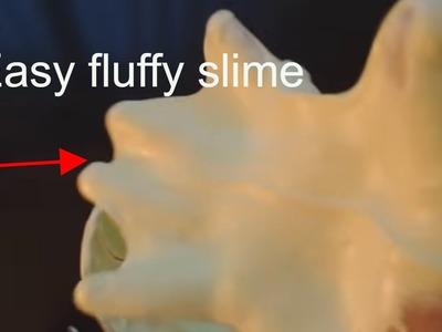 How to make easy fluffy slime No BORAX (Mr. maker)