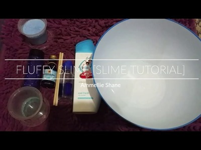 How to make fluffy slime without Shaving foam, Foam hand soap, Borax, Etc. [[Slime Tutorial]]