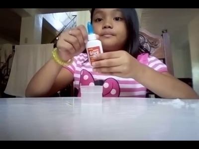 How to make  slime with 2 ingredients glue and salt and water mix