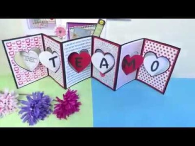 Make valentine day cards at home 5 minutes craft