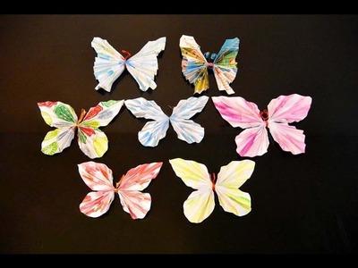 Paper Butterflies DIY, art & craft, life hacks