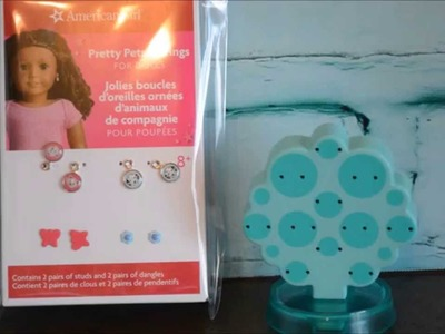 American Girl Doll Accessories Puppy Earrings set  Opening & Review