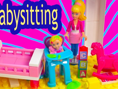 Barbie Mini Doll Playset Mega Bloks Babysitting Baby Playset Lego Blind Bag Toy Review Unboxing