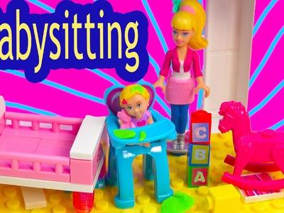 Barbie Mini Doll Playset Mega Bloks Babysitting Baby Playset Lego Blind Bag Toy Review Unboxing