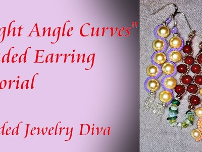 Beaded Earrings Tutorial - Right Angle Curves - Beading Tutorial