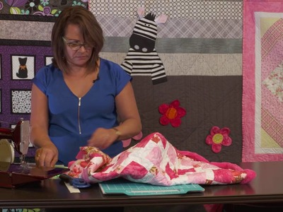 Binding a Quilt with Minky Fabric
