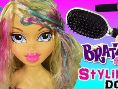 Bratz Styling Head Doll Cloe! Style Hair with Color Cream & Glitter! Shopkins Surprise Foil Tags