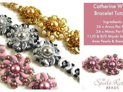Catherine Wheel Bracelet Tutorial