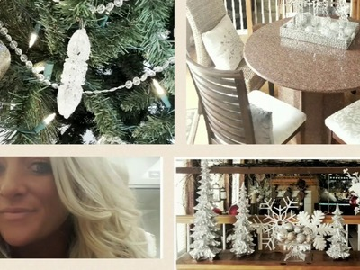Christmas decorating and decor home tour!  Crystal Christmas:)