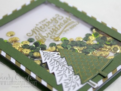 Christmas Shaker Card feat. Peaceful Pines from Stampin' UP!