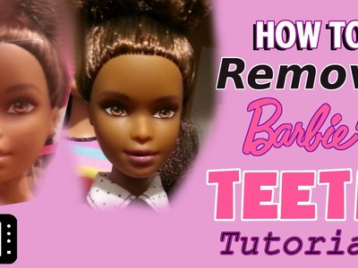 Close Barbie Doll's Mouth by Removing Teeth TUTORIAL Disney Princess, Monster High, Ever After High