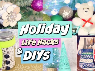 DIY Holiday Gift Ideas, Life Hacks, & Winter Room Decor! Christmas How To