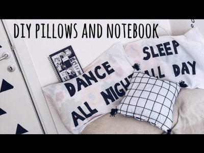 DIY pillows and notebook | Ana Gligorijevic