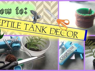 DIY REPTILE TANK DECOR!