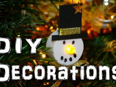DIY Snowman Decorations - Christmas Holidays Craft Idea