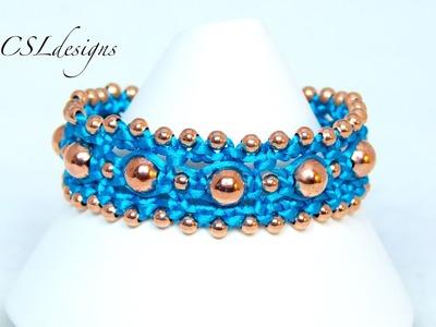 Easy beaded macrame bracelet