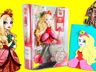 Ever After High Apple White Doll Review and Surprise Play-doh Book | Evies Toy House