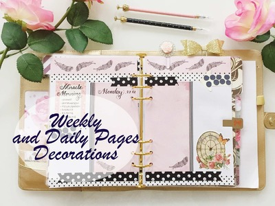 How I decorate my Weekly and Daily Pages in my Gold Kikki.K Planner | PLAN WITH ME