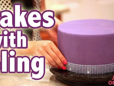 How To Bling Out Your Cake with Glam RIbbons | Cake Tutorials
