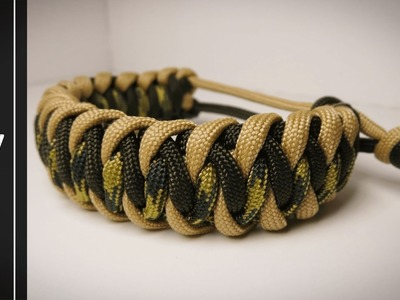 How to make a Cascading Ladders Bar Paracord Bracelet[MAD MAX STYLE] [NO BUCKLE NEEDED]