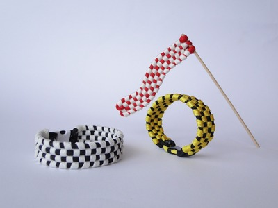 How to Make a Checkered Pattern Paracord Survival Bracelet-Bonus Video: Make a Paracord Racing Flag