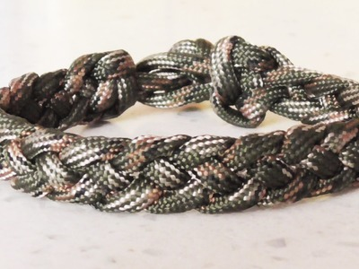 How To Make A Four Strand Braid Paracord Survival Bracelet