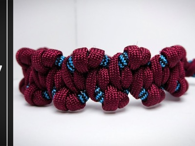 How to make The Volcano Island Paracord Bracelet [MAD MAX STYLE] [UWA ORIGINAL] [NO BUCKLE NEEDED]