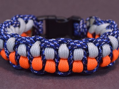"How to Make ""Watsons Cobra"" Paracord Survival Bracelet - BoredParacord"
