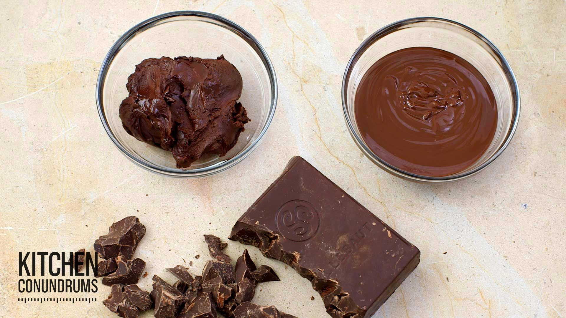 How to Melt Chocolate, the Right Way! - Kitchen Conundrums with Thomas Joseph