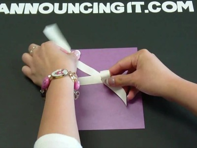 How to tie a Perfect Bow for an Invitation