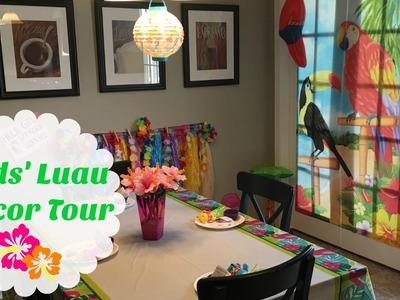 Kids' Luau Party Decor Tour | Oriental Trading, The Dollar Tree & Hobby Lobby