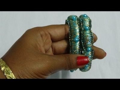 Knotting Weave Silk Thread Bangles Making Tutorial - Latest Fancy Design