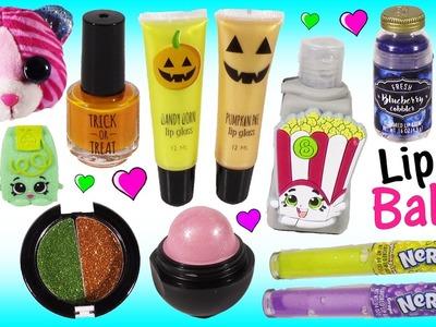 LIP BALM & Beauty Treats! Yummy Scented  Lip BALM! Nail Polish Pumpkin Pie Lip GLOSS! SHOPKINS!