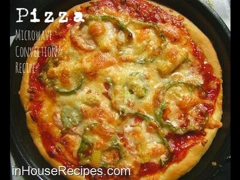 Make Veg Pizza in Microwave Convection Oven Recipe