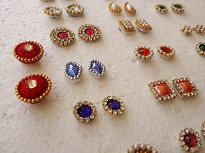 Making of  Earring Studs. Patches at Home | Tutorial