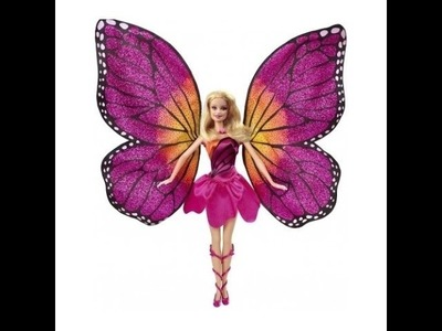 New Barbie Mariposa and The Fairy Princess Doll Girl Wing Butterfly Necklace Ken Doll