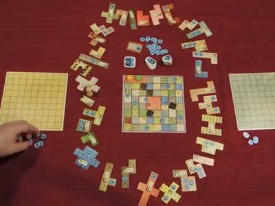 PATCHWORK Board Game Quick Walkthrough w. Doron