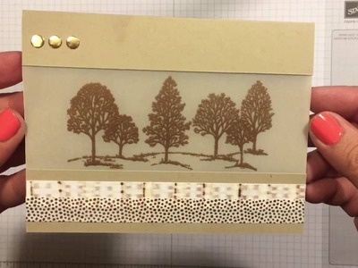 Quick & Easy Embossed card using Stampin' Up! Products