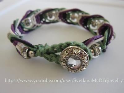 Simple 4 color Macrame Bracelet