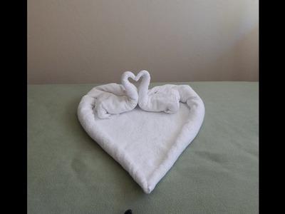 Towel Heart; Love Sign.