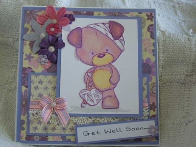 Tutorial, How to make a Get Well Card