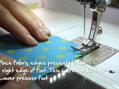 Tutorial: how to use the BERNINA patchwork foot no. 37 and 57