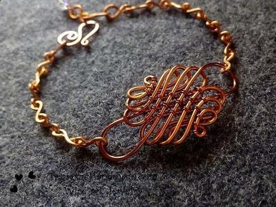 Tutorial wire knot bracelet - How to make wire jewelery
