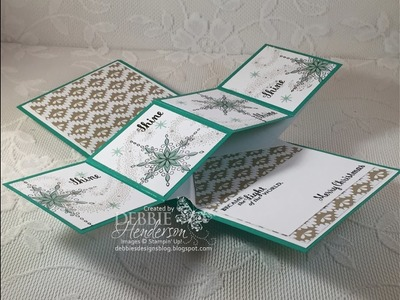 Twist Pop Up Card Fold using Stampin' Up Star Of Light
